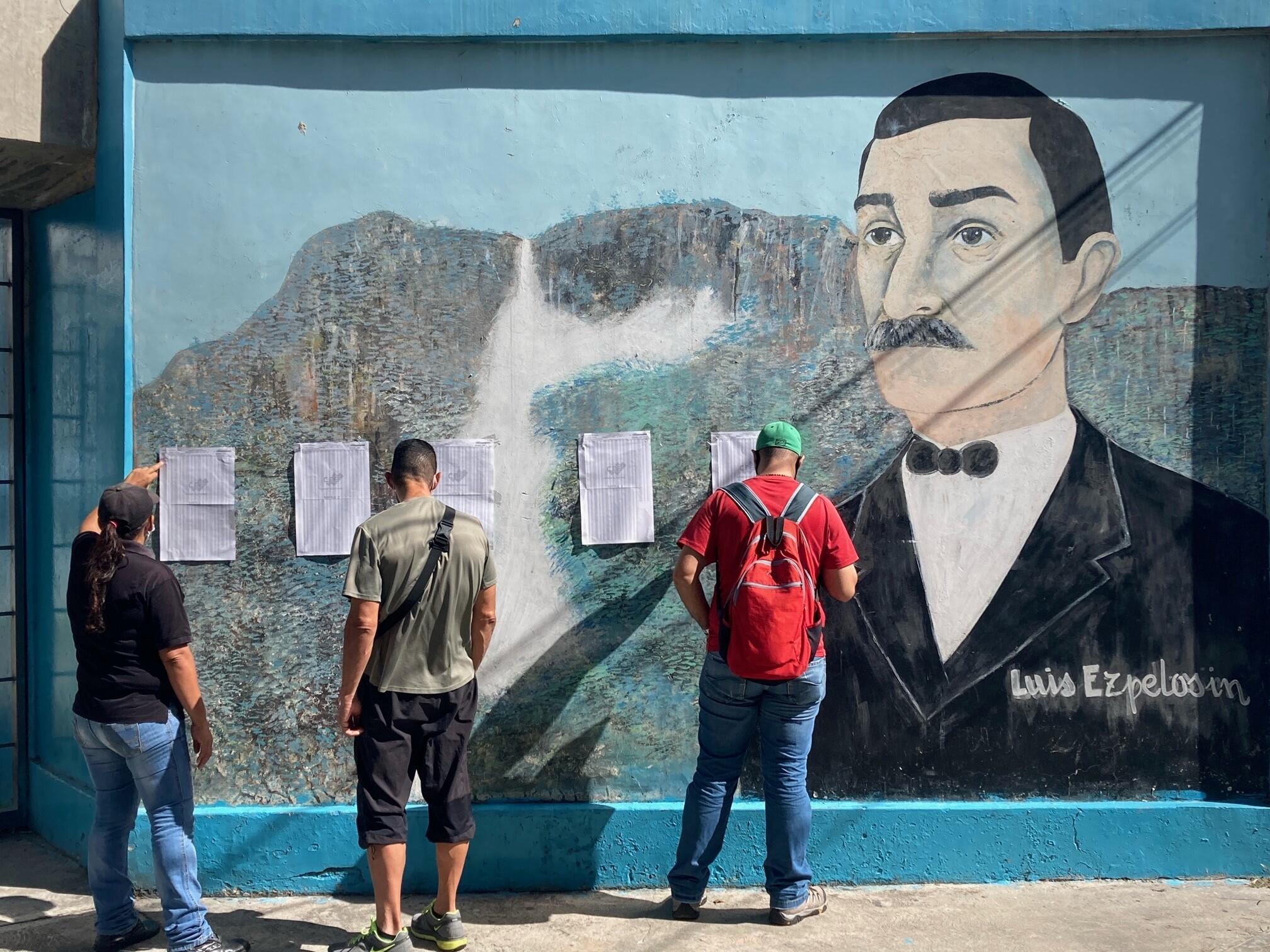 Elections Venezuela Liste électorales Caracas
