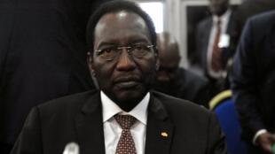Diouconda Traoré, le 3 mai 2012 à Dakar, lors d'une réunion des chefs d'Etat d'Afrique de l'Ouest sur la crise au Mali.