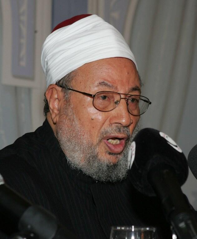 """Yusuf Al-Qaradawi is leader of the International Union of Muslim Scholars, which has warned Charlie Hebdo's decision to publish Mohammed caricatures was """"not wise""""."""