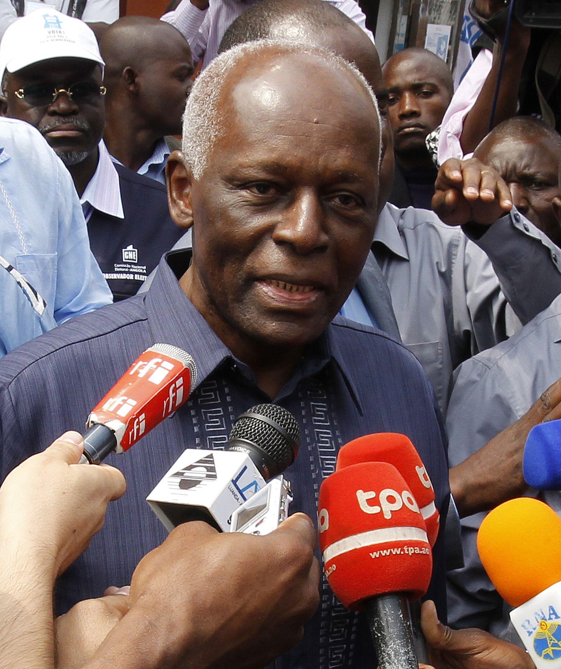 O presidente de Angola, José Eduardo dos Santos
