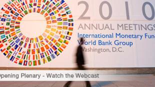 Lãnh đạo WB và IMF tại cuộc họp ngày 8/10/10
