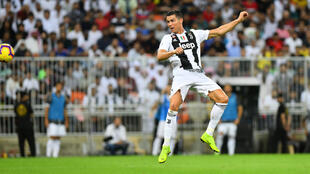 Cristiano Ronaldo scored Juventus's second goal in their 3-0 win at Sassuolo.