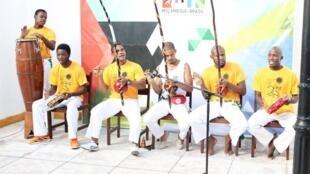 Roda de capoeira no Centro Cultural Brasil-Moçambique.