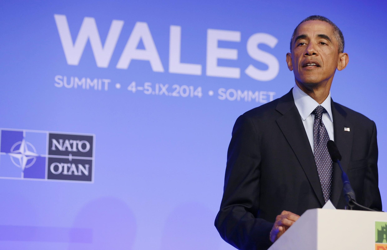 Barack Obama fez a sua conferência de encerramento da reunião da Otan nesta sexta-feira.