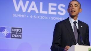 Tổng thống Mỹ Barack Obama tại Hội nghị thượng đỉnh NATO ở Newport, Anh Quốc. Ảnh ngày 05/09/2014.