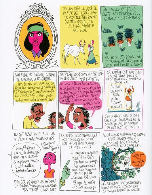 Biography of Phoolan Devi from Penelope Bagieu's Les Culottées
