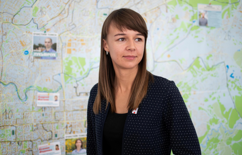 Сотрудница томского штаба Алексея Навального - Ксения Фадеева - победила в своем округе на выборах в городскую думу Томска 13 сентября 2020.