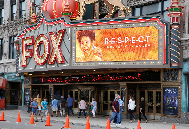 Fachada del Fox Theater, en Detroit, Michigan, este 16 de agosto de 2018.