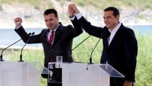 希腊和马其顿就马其顿国名更改问题签署协议 。2018-06-17