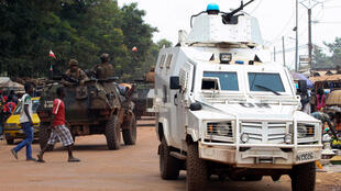 French and UN troops on the streets of Bangui
