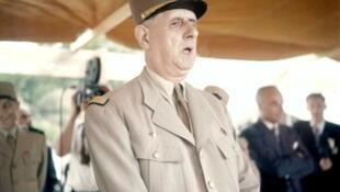 Le général de Gaulle à Constantine (Algérie) en juin 1958.