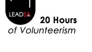 Le logo de «Lead SA», 20 heures de volontariat pour le service communautaire.