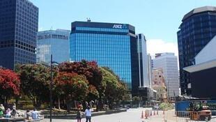澳新銀行在新西蘭惠靈頓維多利亞大道上的總行。