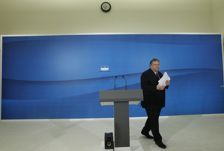 Лидер социалистов Эвангелос Венизелос 11 мая 2012 после объявления о провале консультаций по формированию правительства