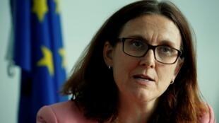 La commissaire européenne au Commerce, Cecilia Malmström.