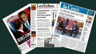 Capa dos jornais franceses Libération, La Croix e Les Echos comentaram as revelações de que a Petrobrás teria sido alvo de espionagem dos EUA.