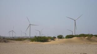 Amogdoul wind farm in Essaouira, Morocco.