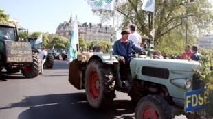 Фермеры протестуют против падения закупочных цен на зерновые.