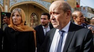 Le ministre français des Affaires étrangères Jean-Yves Le Drian à Erbil, le 15 janvier 2019.