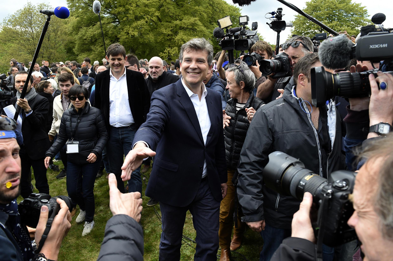 Socialist left-wing rebel Arnaud Montebourg in May