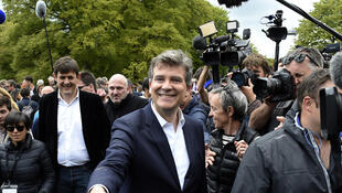 Socialist left-wing rebel Arnaud Montebourg in May