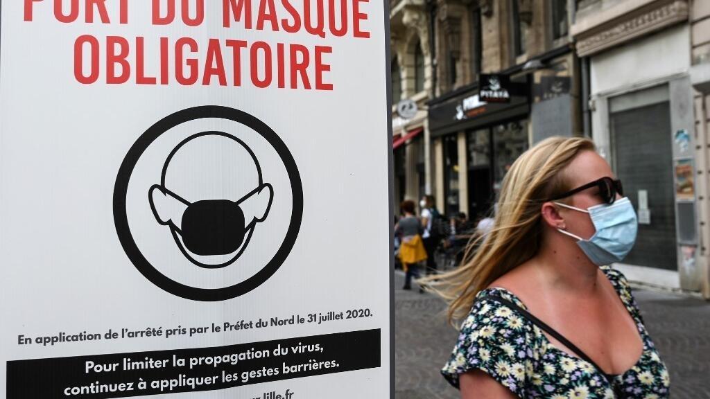 France: à Lille, le port du masque obligatoire à l'extérieur divise