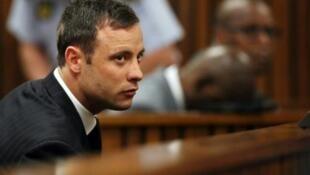 Oscar Pistorius durante audiência no tribunal no dia 12 de setembro de  2014.