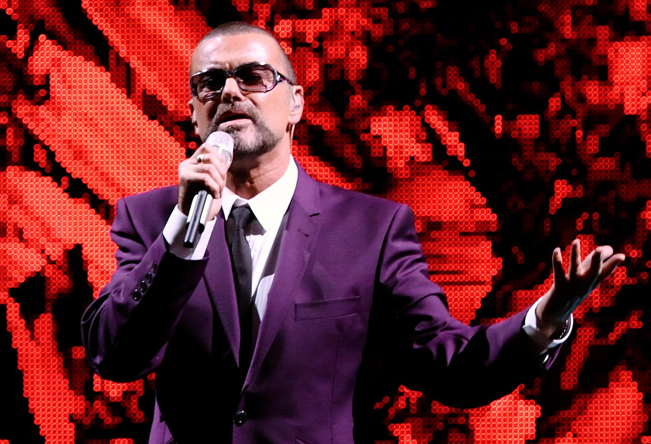 El cantante británico George Michael en un concierto en Viena, el 4 de septiembre de 2012.