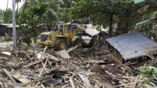 Lũ lụt tàn phá nặng nề Philippines hồi 17/12/2011.