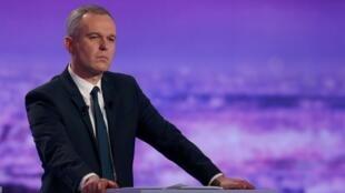 François de Rugy, alors candidat écologiste à la primaire de la «Belle alliance populaire» lors d'un débat télévisé en janvier 2017.