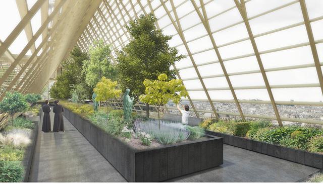 Jardins suspensos apresentada pelo NAB Studio, de Paris, focam na agricultura urbana