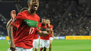 Nani, um dos cinco jogadores luso-caboverdianos convocados por Paulo Bento