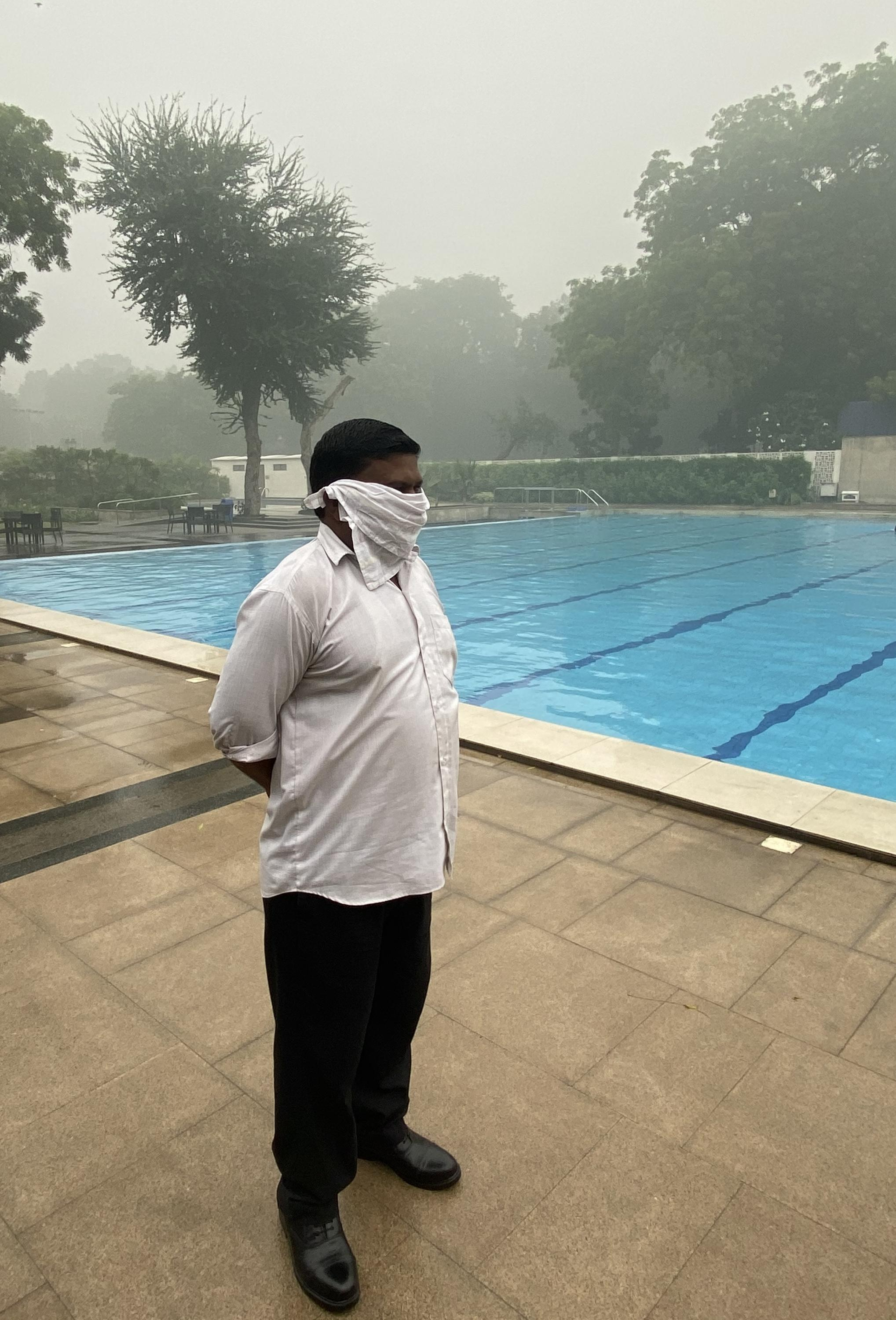 The pollution in Delhi has been so bad that swimming pools and other facilities have been unusually quiet.