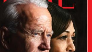 美国当选总统拜登与当选副总统贺锦丽资料图片