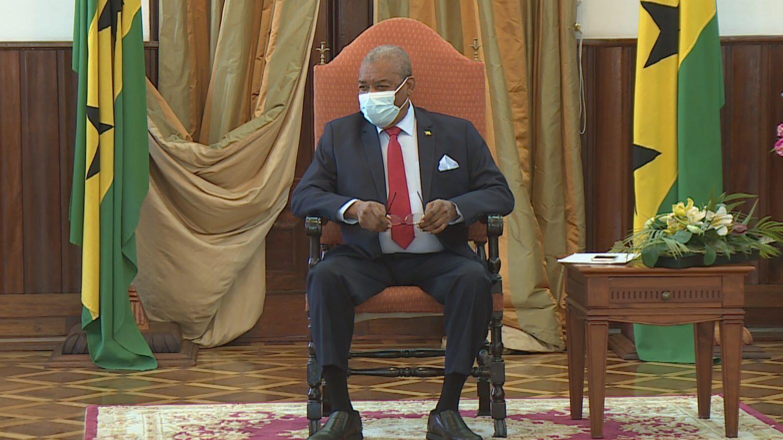 O Presidente da República de São Tomé e Príncipe, Evaristo Carvlaho