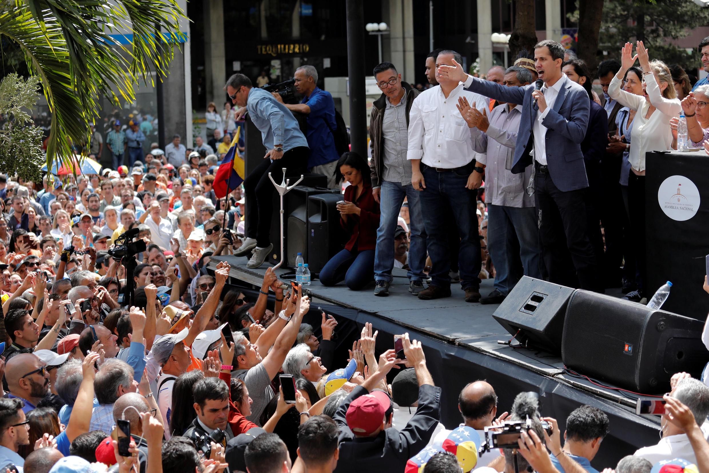 Chủ tịch Quốc Hội Venezuela Juan Guaido trong cuộc mít tinh ngày 11/01/2019 tại Caracas.