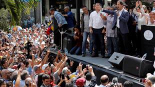 Chủ tịch Quốc Hội Venezuela Juan Guaido trong một cuộc mit-tinh ngày 11/01/2019 ở Caracas.