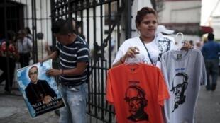 San Salvador, le 21 mai 2015. Au Salvador, Mgr Romero est une véritable icône depuis son assassinat en 1980.