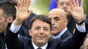 Italian Prime minister, Matteo Renzi, at the opening of the Milan Expo 2015, 1 May 2015