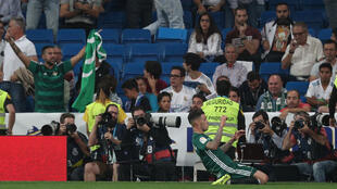 Antonio Sanabria scored in the dying seconds to give Real Betis victory at Real Madrid.