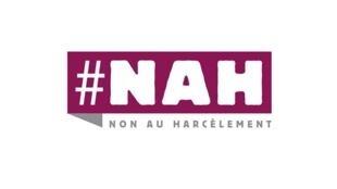 """Logo de la campaña: """"No Al Acoso""""."""