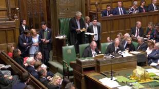Chủ tịch Hạ Viện Anh John Bercow thông báo kết quả cuộc bỏ phiếu bác bỏ 4 kế hoạch thay thế thỏa thuận Brexit của thủ tướng Theresa May. Ảnh 01/04/2019.