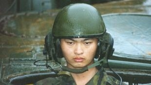 Taiwanese soldier during exercise