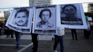 Manifestación de familiares de desaparecidos el pasado 1° de abril de 2018, día de la muerte del exdictador Efraín Ríos Montt.