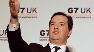 O ministro britânico das Finanças, George Osborne, se mostrou otimista durante a entrevista coletiva concedida após a reunião do G7.