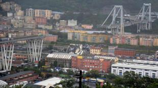 Así luce Génova después de la caída del puente