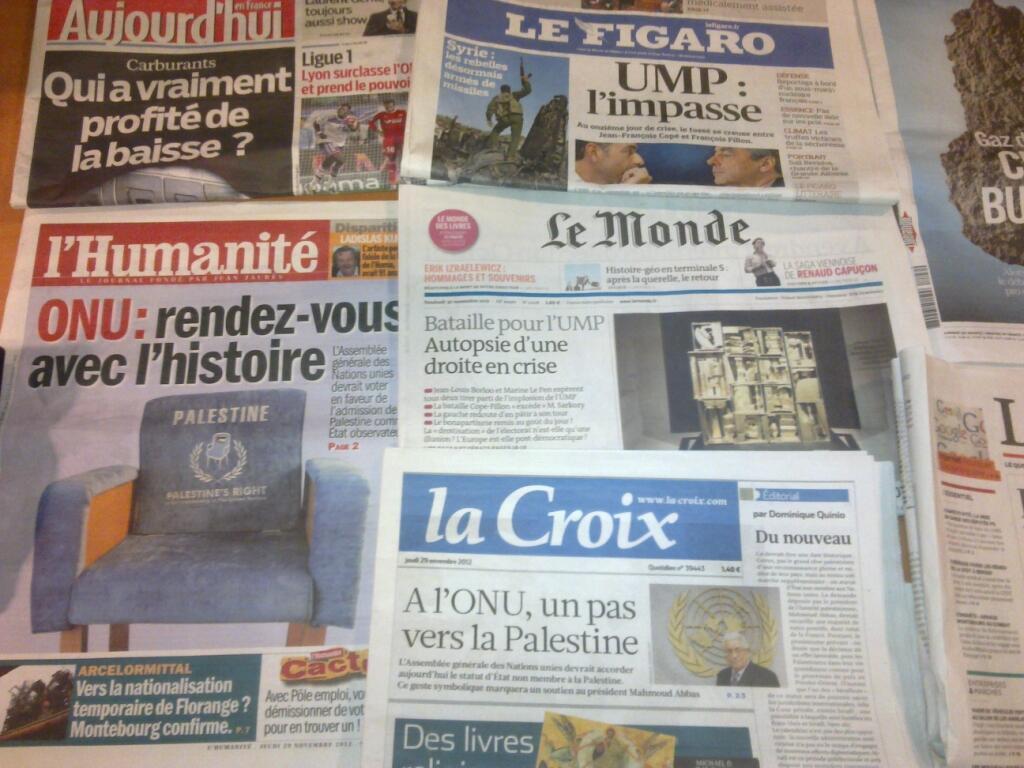 Diários franceses  29/11/2012