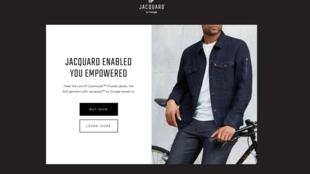 Le site de Jacquard, la veste connectée née de la collaboration de Google et Levi's.
