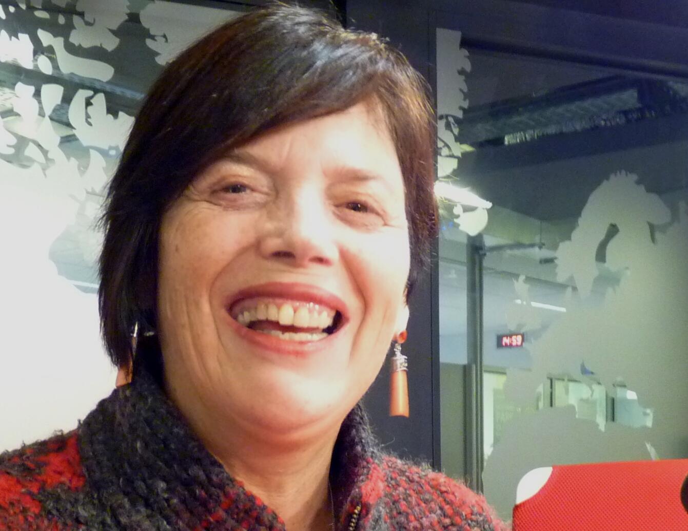 La 'jazz woman' Corina Bartra en los estudios de Radio Francia Internacional.