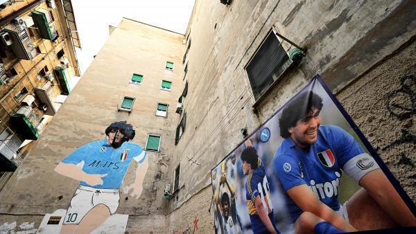 Une représentation de Diego Maradona, dans les rues de Naples.